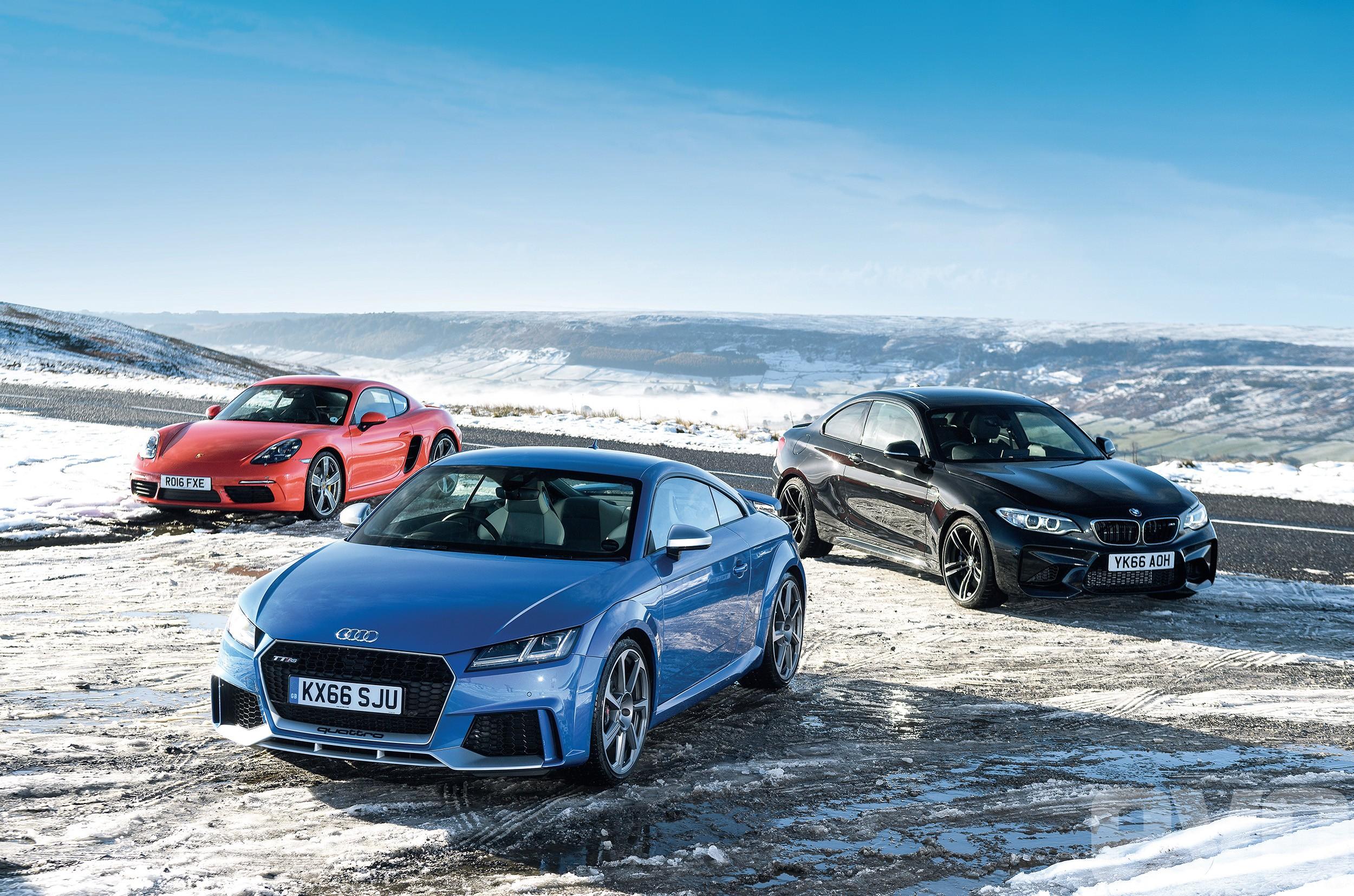 Audi RS TT, BMW M2, Porsche 718 Cayman